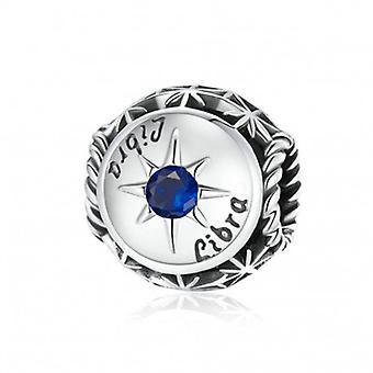 Sterling Silber Charm Sternzeichen Waage Mit Zirkonia - 6984
