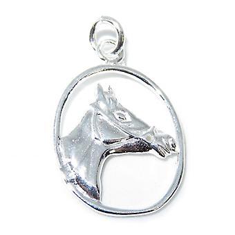 Ciondolo in argento sterling horse .925 X 1 Cavalli Pendenti - 8337