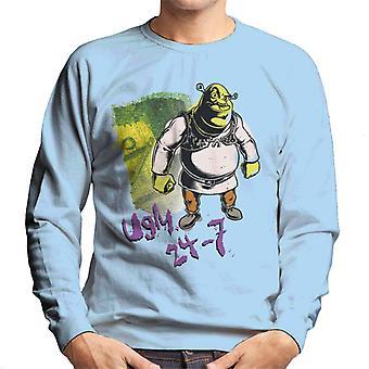 Shrek Ugly 24 7 Quote Men's Sweatshirt