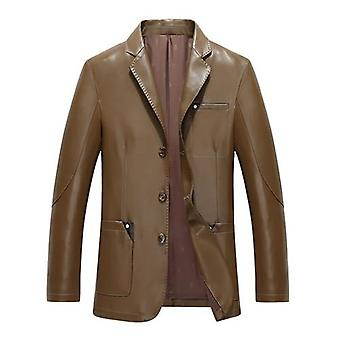 Everyday mens leather blazer