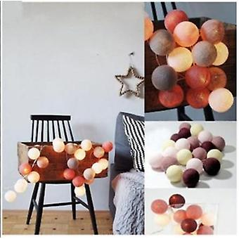 3m Led Baumwolle Ball Girlande, String Fee Lichter Dekoration Set 7
