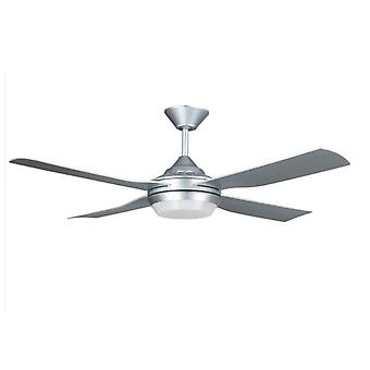 """LED Ceiling Fan Moonah Silver 132cm / 52"""" with Remote"""