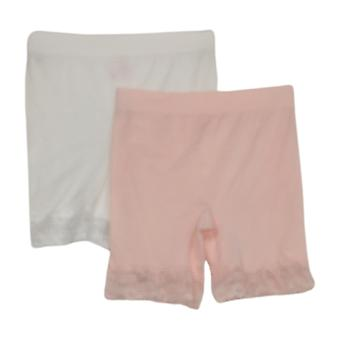Breezies shaper سلس منتصف الفخذ مجموعة قصيرة من 2 الوردي / الأبيض A374503