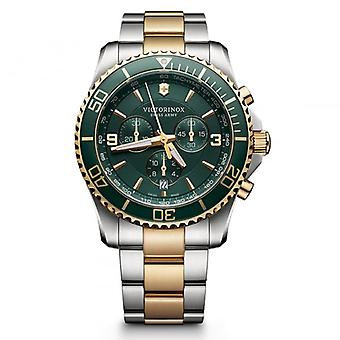 Victorinox Swiss Army 241693 Maverick 43mm Green Two Toned Chronograph Watch