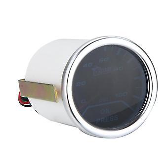 "2"" 52Mm 0-100psi universal car smoke lens pointer oil pressure gauge styling auto meter instrument"
