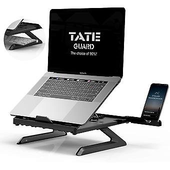 HanFei Laptopstnder Halterung eingebaute,Faltbare Beine und Handyhalterung,9-Fach hhenverstellbare