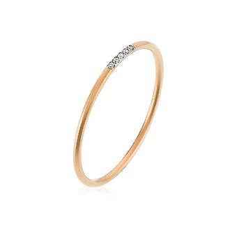 Ring 'Alliance Humility' Rose Gold and Diamonds
