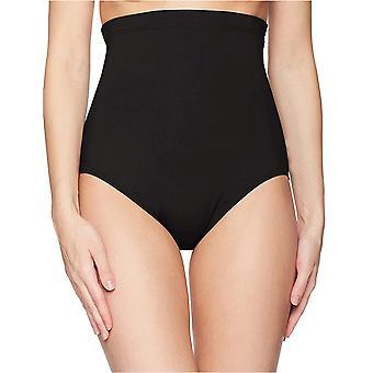Anne Cole Kvinnors Färg Blast Solids Super High Waist Shape Control Bikini Bottom, Navy, X-Large
