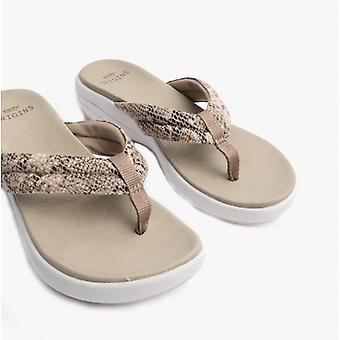 Earth Spirit Glen Ladies Toe Post Sandals Taupe