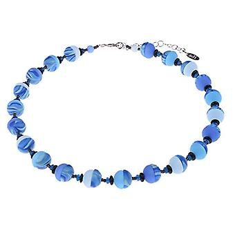 Adi - Original 'Jenny' necklace in Polaris and Zebra 12 mm pearls and blackened brass beads, handmade in Berlin Ref. 4251188641356