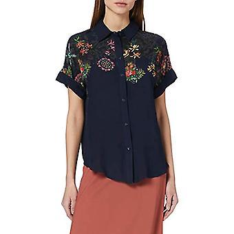 Desigual Cam_Luna T-Shirt, Blu, L Donna