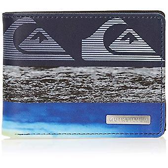 Quiksilver Freshness M-Wallets for Men, Travel Accessory-Wallet Tri-Fold Men,Marine Blue Blazer, Medium
