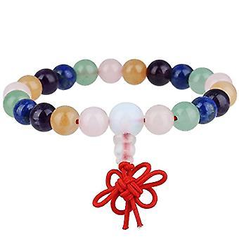 KYEYGWO 21 Mala Bracelet with Crystal Beads Chakra, unisex, Reiki Stretch, color: Chakra Stone (prayer chain Ref. 0715444069383