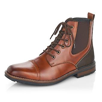 Rieker F1324-24 Clermont Men's Lace Up Boots In Brown