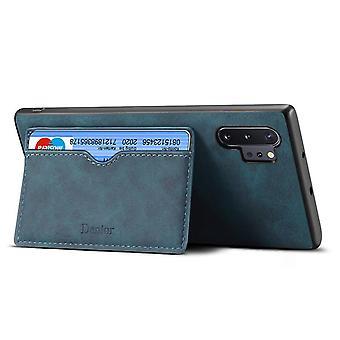 Lommebok skinnveske kortspor for iphone6splus blå no4577