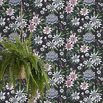 Amazonia Passiflora Black Wallpaper Holden 91324