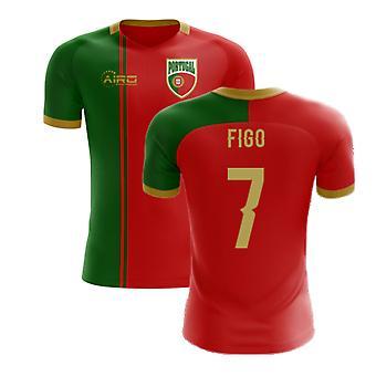 2020-2021 Portugália Flag Home Concept Futballmez (Figo 7) - Gyerekek