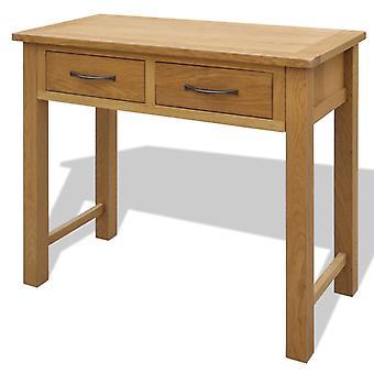 vestidor vidaXL con taburete de madera maciza de roble