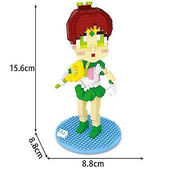 New 6pcs/set Building Blocks Sailer Moon Kids Figure Toy Creative Bricks ES7486