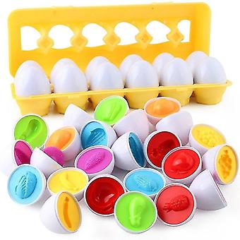 For Toys Montessori Toys Egg 3D Puzzle Game Learning Education Toys Smart Math Games Eggs Sorter WS17149