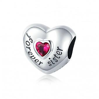 Sterling Silver Charm Forever Sister - 7075