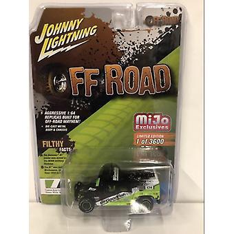 Hummer H1 Wagon Baja Racing Black/Green 1:64 Johnny Lightning JLCP7155