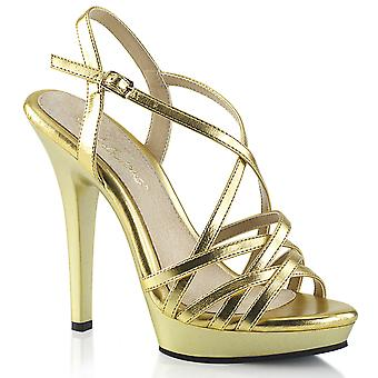 Fabulicious Women's Shoes LIP-113 Gold Met. Pu/Or