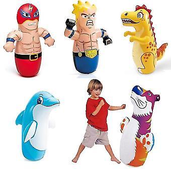 Boys Girls Children Boxing Bag For Kids Tumbler Inflatable Toys(Dinosaur)