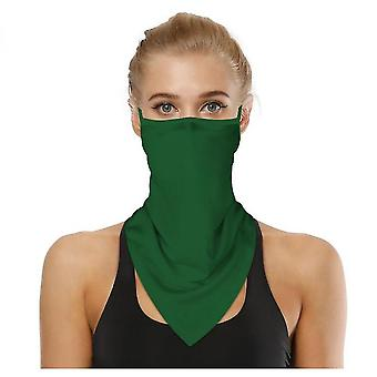 Sports Outdoor Cycling Triangle Bandage Mask Mountaineering Wristband(Green2)