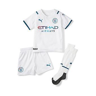 Puma Manchester City 2021/22 Junior Kids Mini Kit de Fútbol Blanco