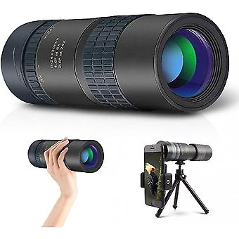 Kids Monoculars, 24x30 High Power Scope With Smartphone Mount And Tripod, Bak4 Prism Continuous Zoom Portable Monoculars