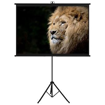"""Projection Screen with Tripod 63"""" 1:1 Film Display Projector Screen"""