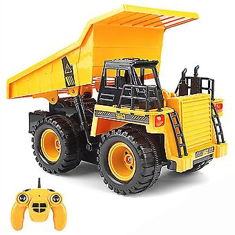 2.4g Remote Control Dump Car With Led Light-construction Vehicle Toy