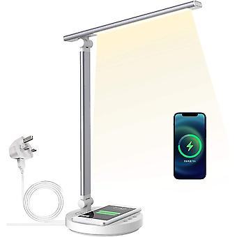 Lámpara de lectura con carga inalámbrica Puerto de carga USB LED regulable 5 niveles de brillo