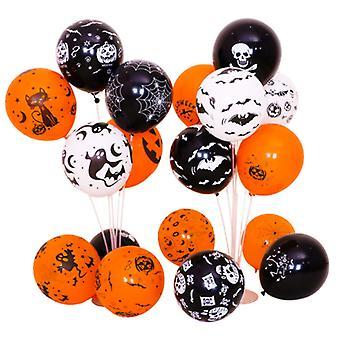 100 Latex Halloween Balloons, Balloon Halloween Decorations(Tricolor)
