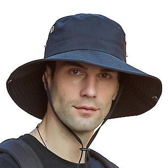 Sonnenhut für Männer / Frauen, Sommer UV-Schutz Spf Wasserdichte Boonie Hut zum Angeln Wandern Garten