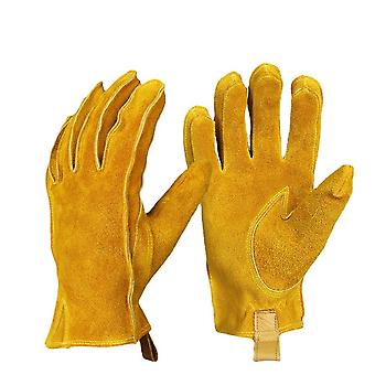 Retro Motorcycle Motorcycle Gloves Windproof, Wear-resistant, Non-slip Soft And Comfortable