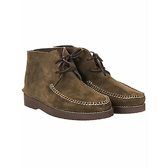 Yogi Footwear Lucas Vibram Suede Lace Up Boots - Olive