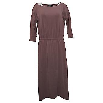 Brittany Humble Dress B.E. Ready Dolman 3/4 Sleeve Midi Purple 753827