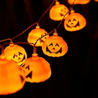 Homemiyn Halloween pompoen lantaarns pompoen lantaarn string, 3m lang, 20 kleine pompoen lantaarns