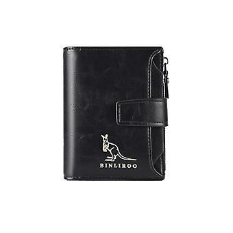 Uuden tyylin Miesten nahka lompakko Rfid estää varkaudenesto pystysuora käyntikortin haltija Mies kolikko laukku lompakko Miehet