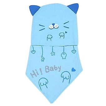 Beanie Baby Girl Boy Beanie Lasten hatut Vauvan pehmeä söpö lippis putoaa talvensininen