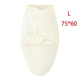 Baby sovsäck nyfödd kuvert kokong wrap swaddle mjuk 100% bomull 0-6 månader sömn filt