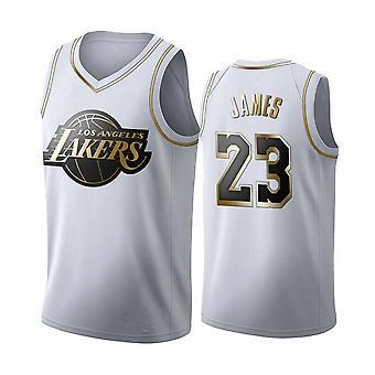 Miesten koripallo Jersey Lakers Lebron James #23 Swingman Jersey Ulkourheilu t-paita Nuorten Koripallo Uniform Throwback Jesey Koko S-xxl
