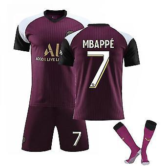 Mbappe #7 Jersey Home 2021-2022 Nieuw seizoen Parijs Voetbal T-shirts Heren Jersey Set Volwassen Kinderen
