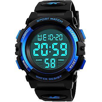 Drenge Digitale ure, Kids Sports Vandtæt Digital ure med alarm / Timer / El Light, Blue