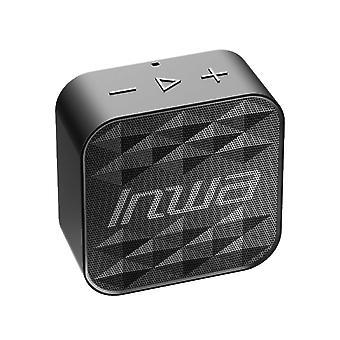 Kreativ Vanntett Bluetooth 5.0 Bærbar Mini Høyttaler Kan Sette inn Kort Firkantet Drill Sports Høyttaler Spiller