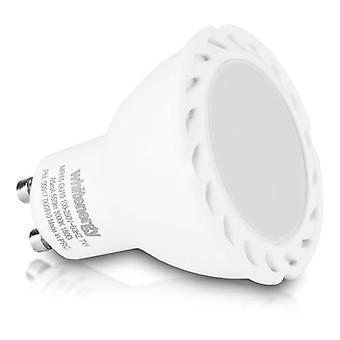 Whitenergy GU10 LED MR16 Light Bulb Single Pack 7W 100-250V White Warm