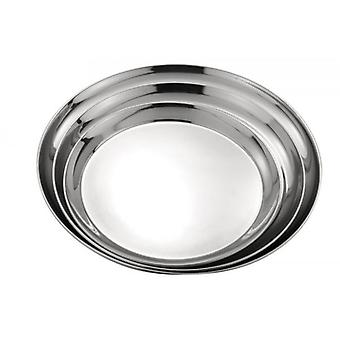 30cm Round Waiter Serving Tray S/Steel For Bar Drinks Food