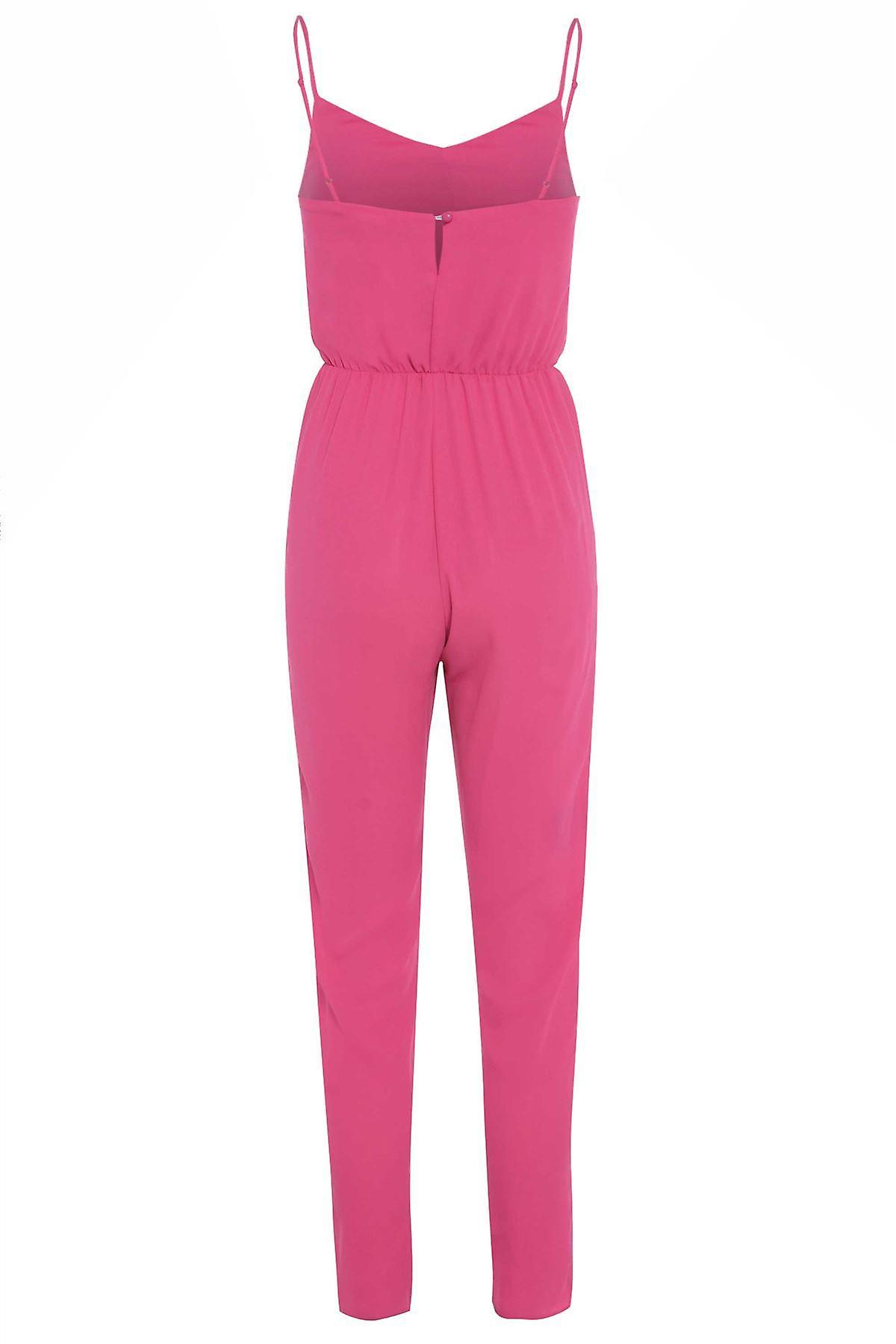 New Look Pink Sateen Jumpsuit